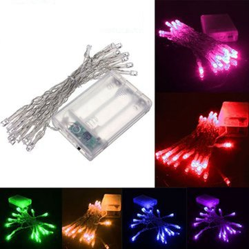 2M 20 LED Battery Powered Christmas Wedding Party String Fairy Light
