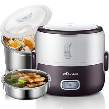 1.3L 220V Stainless Steel Electric Rice Cooker Portable Mini Steamer Lunch Box Food Storage