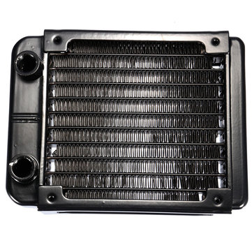 90mm 10 Tubes G1/4 Aluminum Computer Water Cooling Radiator Cooler For CPU Heatsink