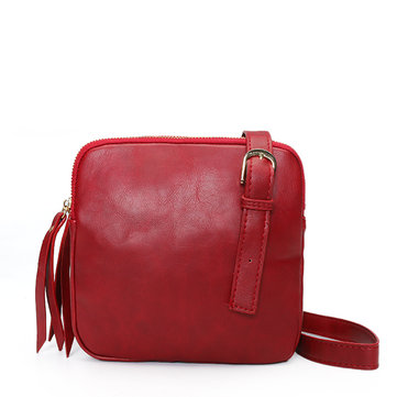 Casual Square PU Leather Crossbody Bag Shoulder Bag For Women