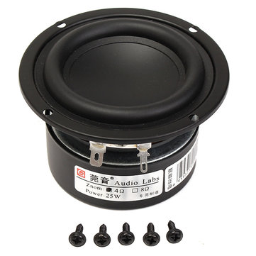 3inch 4Ohm 25W Full Range Audio Speaker Stereo Woofer Loudspeaker Horn