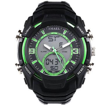 SMAEL1349montredesportde montre-bracelet des hommes de chronomètre imperméable à l'eau montre-bracelet