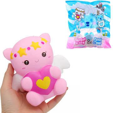 Yummiibear Angel Kitty Panda Cloud Licensed Squishy 14cm Slow Rising With Packaging Collection Gift Soft Toy