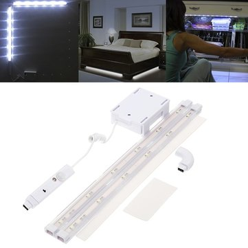 Battery Operated 2PCS SMD2835 5W PIR Motion Sensor White LED Strip Light for Wardrobe DC4.5V