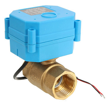 DC 12V DN20 CR01 2 Way Brass Motorized Valve Electrical Ball Valve