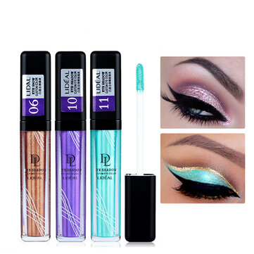 Liquid Eyeshadow Makeup Glitter Eyes Waterproof Pigments White Gold Color Shimmer Eye Shadow
