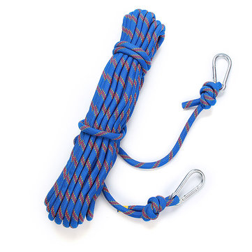 15M Outdoor Climbing Rope Cord String Safety Lifeline Escape Diameter 8MM 49.2FT For Mountaineering