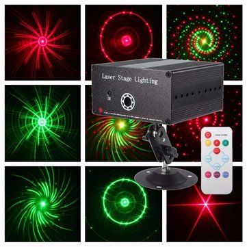 10W R&G LED Laser Remote Projector Stage Light Xmas Party KTV DJ Disco Lamp