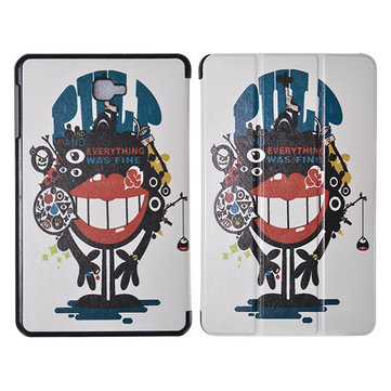 Stand Flip Folio Big mouth blame design Tablet case cover for Samsung GALAXY Tab A T580N 10.1 Inch