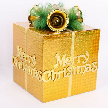 DIY Merry Christmas Tree Decorations Festival Apple Presents Gifts Box Bags