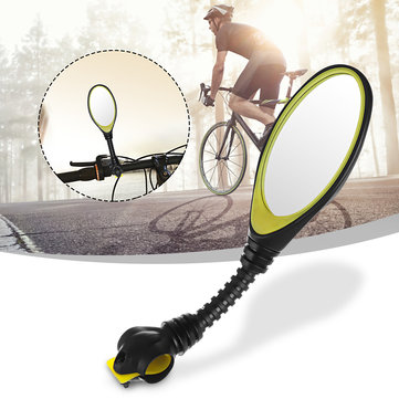 BIKIGHT Bike Mirror Rear View Flexible Adjustable Cycling Safety Motorcycle Handlebar Flat Mirror