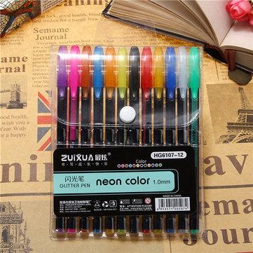 12 Pcs Color Gel Pen Set Adult Coloring Book Ink Pens Drawing Painting Craft Art