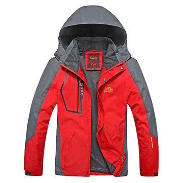 Outdoor Sports Casual Windproof Waterproof Big Size S-7XL Hooded Mountaineering Jacket
