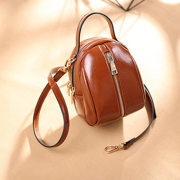 Women Faux Leather Wild Crossbody Bag Fashion Shell Bag