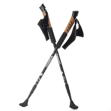 IPRee™ 1 Pair Walking Stick Trekking Pole Adjustable Aluminum Alpenstock Anti Shock Cane