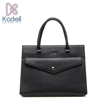 Kadell Women Business Tote Handbags Elegant Shoulder Bags Front Pockets Bags Crossbody Bag