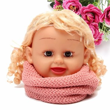 Baby Kids Neck Warm Scarf Knitted Snood Circle Shawl Winter Neckerchief Winter Boys Girls Toddlers