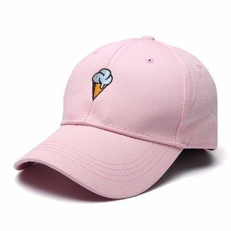 Women Cotton Ice Cream Embroidery Sport Men Hip-hop Cap Strap Back Trucker Baseball Hat