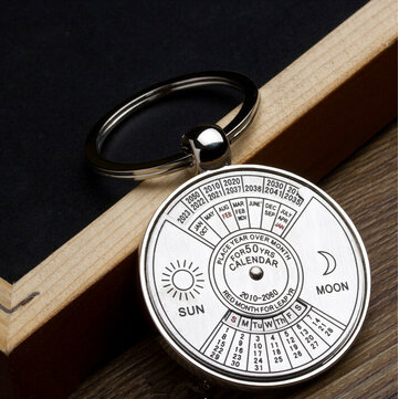 Best Gift 2010 To 2060 Years Calendar Metal Key Chain Personalized Key Ring