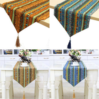 2M Mandala Bohemia Tassel Long Double Sides Table Runner Wedding Party Decoration