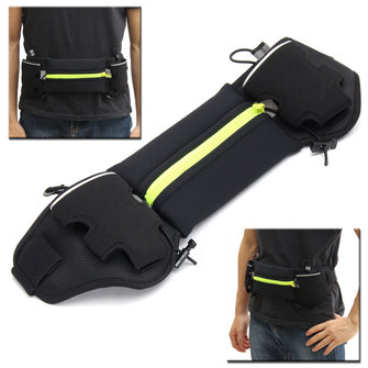 Unisex Water Bottle Waist Belt Bag Sport Fitness Running Jogging Marathon Gym Waist Accessories