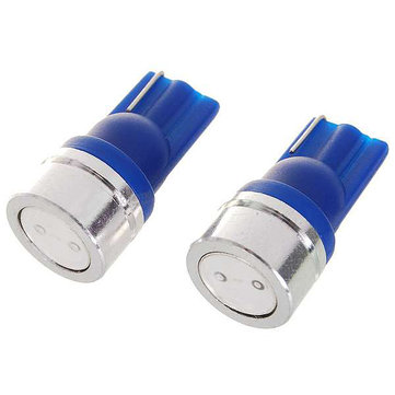 New T10 1W 12V Blue Light Car Turning Light Bulb (2-Pack)
