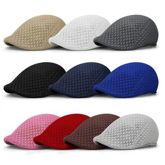 Summer Peaked Cap Newsboy Hat Golf Cabbie Ventair Beret Hat