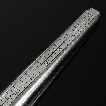 Metal Ring Measure Sizer Guage Mandrel Finger Sizing Stick
