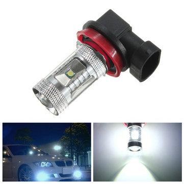 H11 Süper Parlak 30W Beyaz LED Araba Sis Lambası Far Sürücü Lambası Lamba