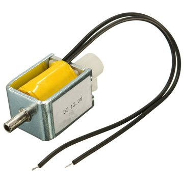 12V DC 2-position 3-way Small Mini Electric Solenoid Valve for Gas Air/Pump