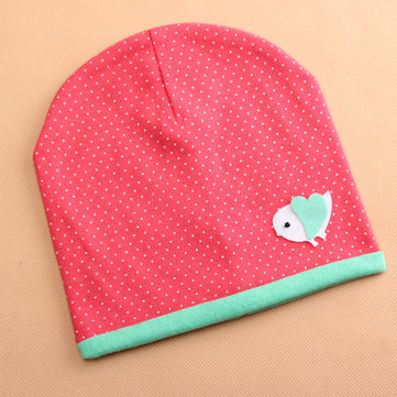 Baby Girl Infant Kids Soft Hat Beanie Cartoon Bird Print Decro Cotton Cap
