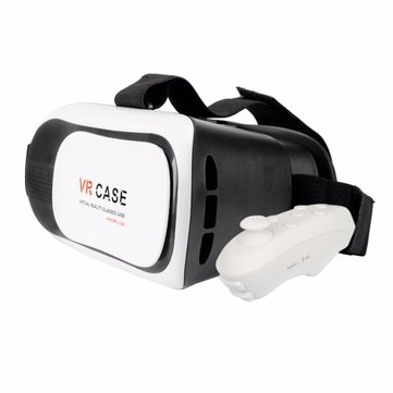 3D VR Virtual Reality Games Movies Glasses For 3.5-inch to 6.0-inch Smartphone With Remote Control