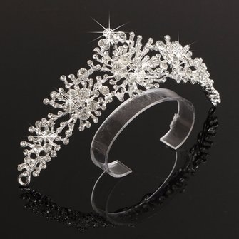 Novia Rhinestone Crystal Tiara Crown Bridal Boda Headpeice Cabello Accesorios