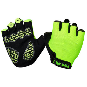 Unisex Lycra Honeycomb Half Finger Gloves Cycling Fingerless Bicycle Outdoor Sport Antiskid Mittens