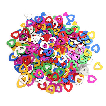 700Pcs Hollow Heart Shape Platic Resin Wedding Throw Confetti Birthday Party Decoration