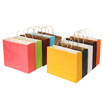 32 * 25 * 11 centímetros saco de papel de embalagem de presente de compras multicolor oferta festa de casamento