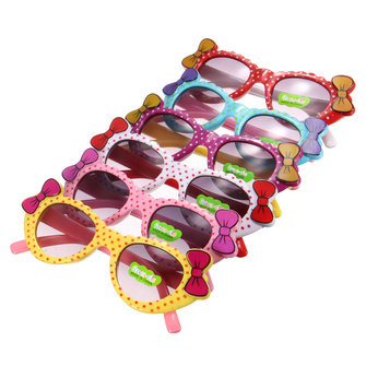 Children Kids Colorful Bows Polka Dots Multi Shades Sunglasses