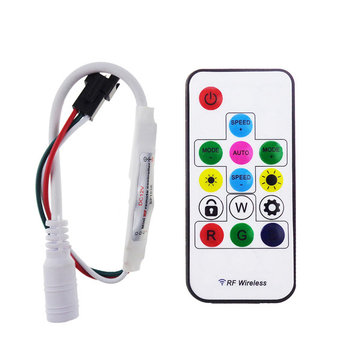 DC 5V WS2812 /12V WS2811 RF LED Light Strip Wireless Remote Mini Controller