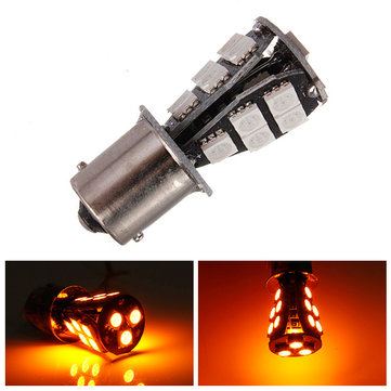 1156 BA15S 18SMD Amber/Yellow Canbus OBC Error Free Light Bulb Lamp