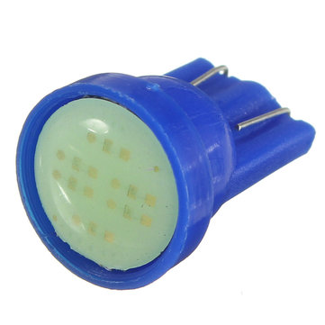 Ice Blue 1 LED COB SMD T10 W5W Wedge Side Car Light Bulb