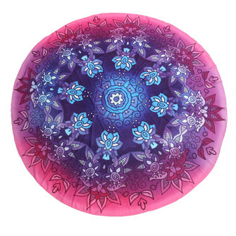 145CM Bohemia Floral Purple Blue Round Yoga Mat Beach Towel Shawl Wall Hanging Tapestry
