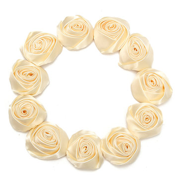 12pcs 55mm beige artificial silk satin roses flower heads wedding 12pcs 55mm beige artificial silk satin roses flower heads wedding decoration diy craft mightylinksfo