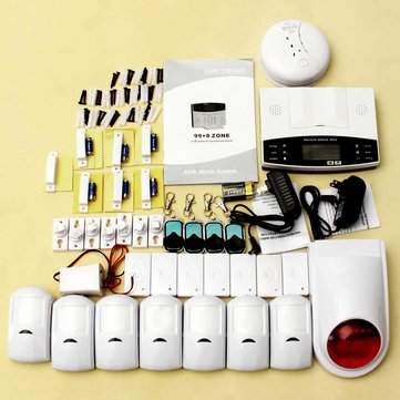 Wireless GSM Auto Dial SMS House Office Security Burglar Intruder Alarm DIY Set