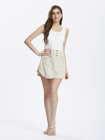 Casual Pocket Sleeveless Linen Patchwork Women Bodycon Mini Dress