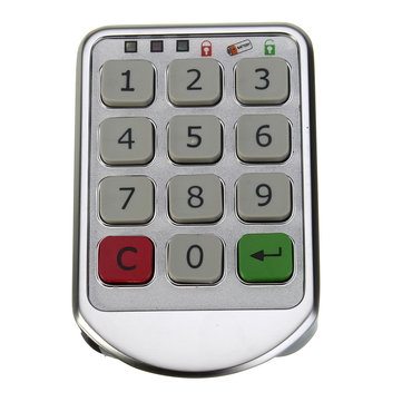 Metal Digital Electronic Password keypad Number Cabinet Code Locks Silver