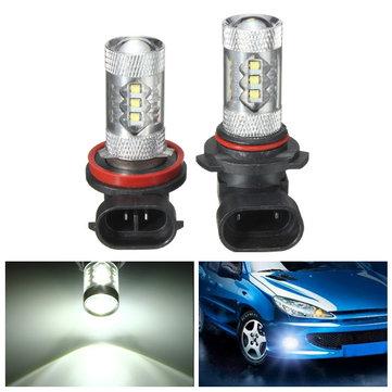 Super Bright 80W H11/H8/9006 LED Car Light Fog Light Bulb White 800lm