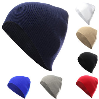 Unisex Men Women Knitted Slouch Beanie Hat Skiing Warm Outdoor Sport Cap