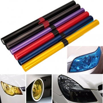 Car Light Cover Auto Vehicle Shade Taillight Headlight PVC Foil Film Cover 16