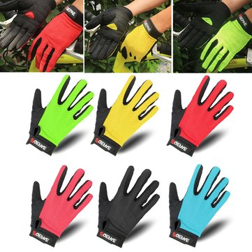 QEPAE Mesh Cotton Outdoor Sport Riding Gloves Sunscreen Breathable Bike Cycling Full Mittens