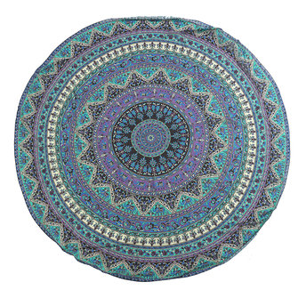 175CM Bohemia Round Yoga Blue Purple Mat Beach Printing Throw Towel Shawl Wall Hanging Tapestry